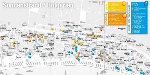bulgarien sonnenstrand karte Hotels Bulgarien Sonnenstrand Karte | goudenelftal bulgarien sonnenstrand karte